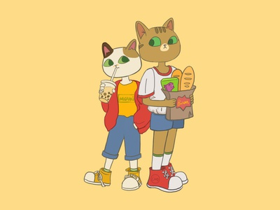 my cats boom and kami