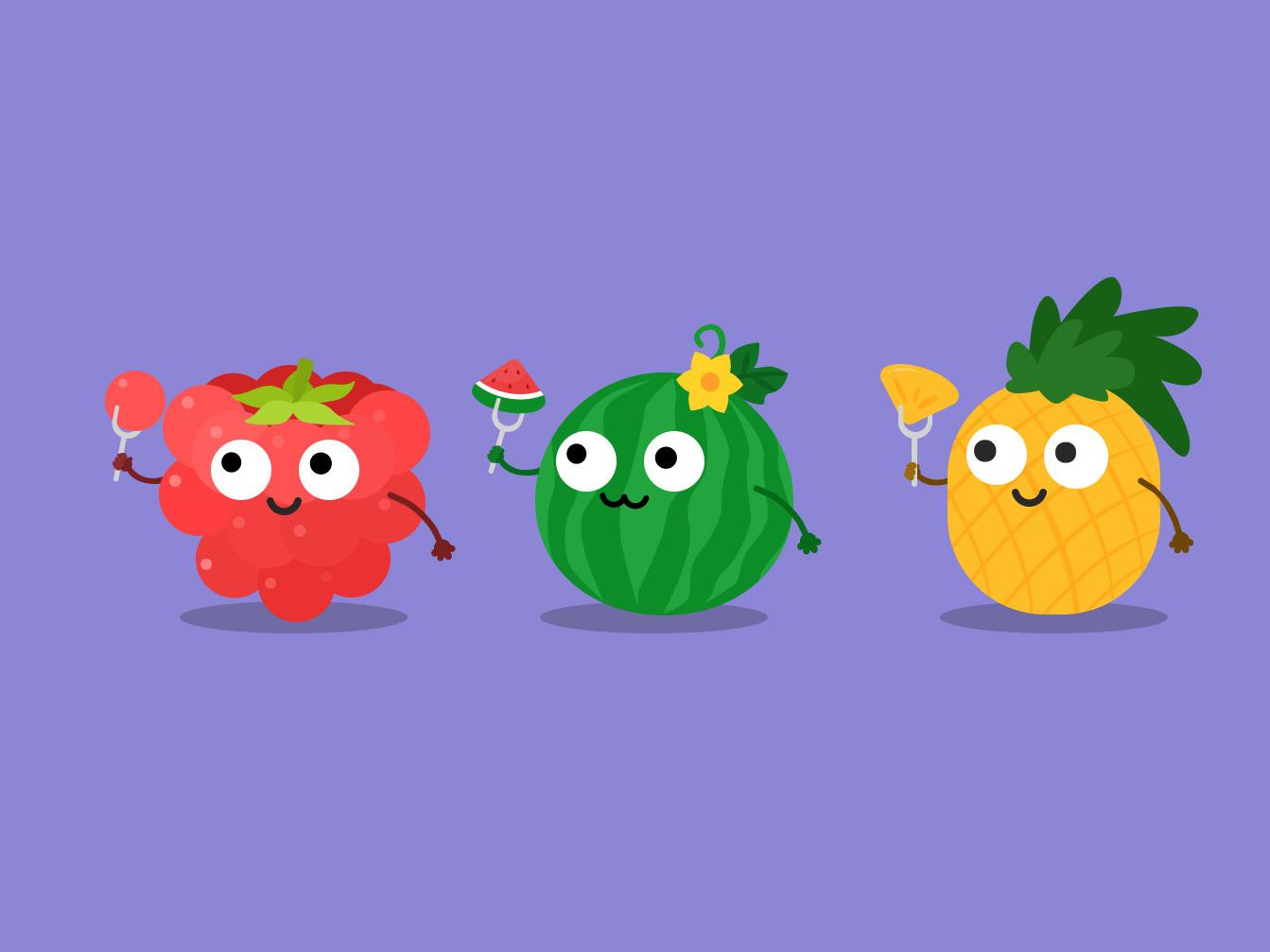 水果成精了 设计 插图 商标 图标