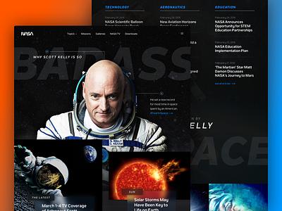 NASA Homepage Exploration article nasa editorial desktop web ux ui space