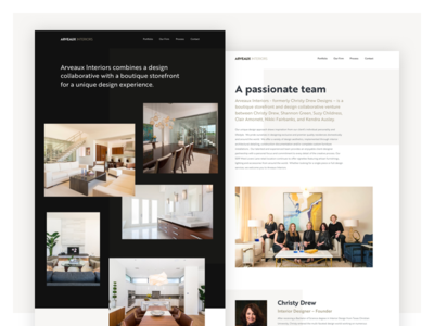 Arveaux Interiors Website