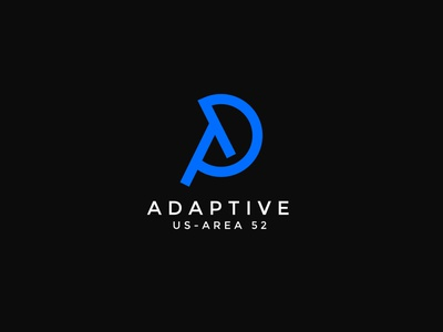 adaptive logo design d logo a logo typography lettermark initial logo logotype minimal brand identity logo design branding logo business modern