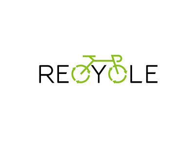 recycle logo logotype typography creative logo cycle minimal logo design brand identity branding logo business modern