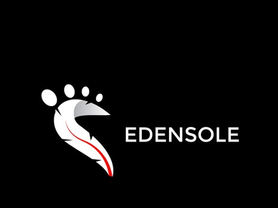 edensole logo design for a shoe company minimal business modern logo mark logo type branding brand identity logo design logo shoes leg footwear foot
