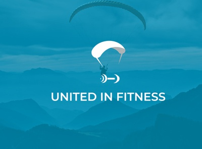United in fitness logo design