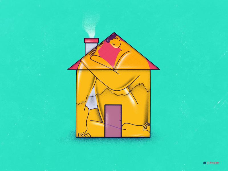 Stay Home healthy world social distancing corona virus pandemic home procreate ipad stay home corona quarantine