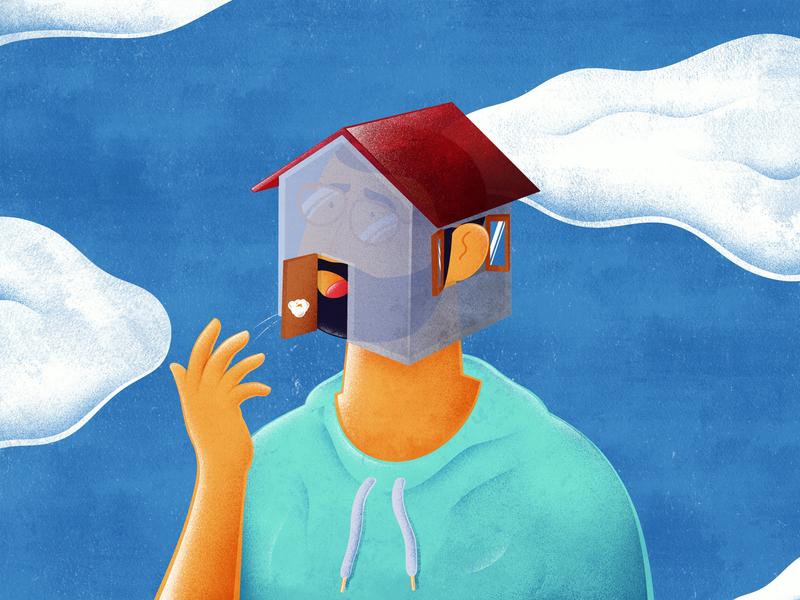 Quarantine Mood sky human apple pencil ipad pro illustration procreate mood stayhome stay coronavirus corona quarantine