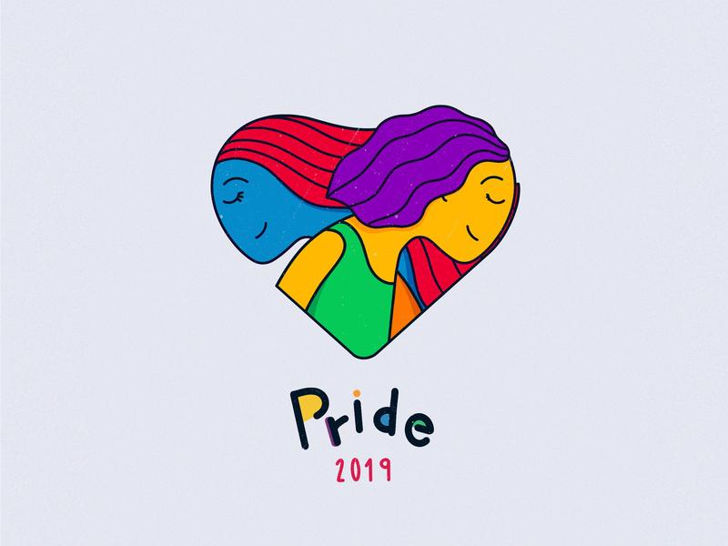 Happy Pride Month! girls equality love lovewins loveislove lgbtq lgbt pride gay lettering human apple pencil procreate ipad pro illustration