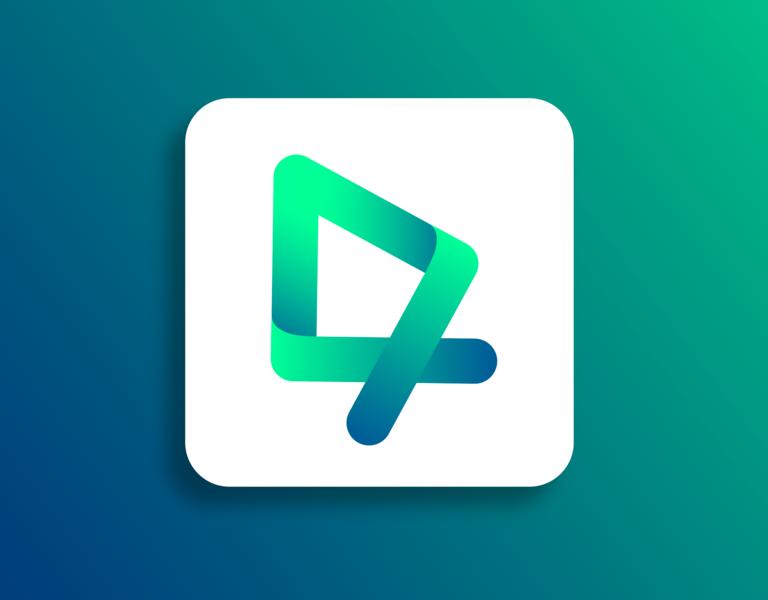 Arrow website app vector web logo icon design illustration