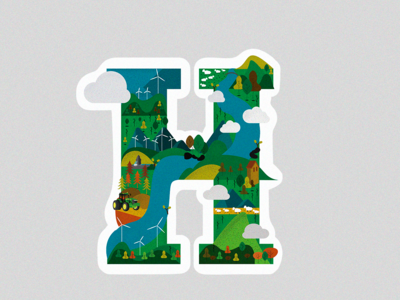 H nature design vector illustration