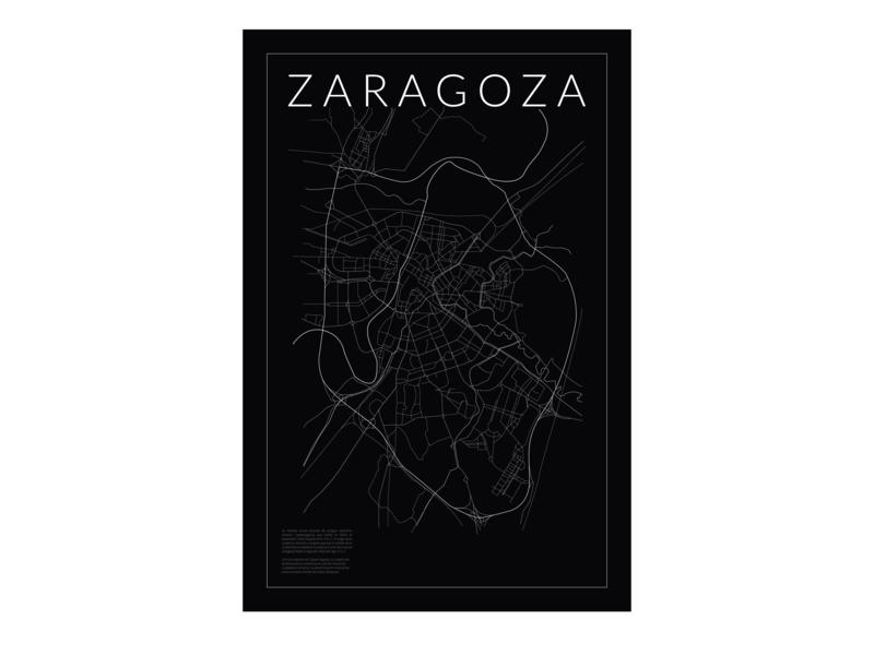 Zaragoza poster typography vector design illustration spain