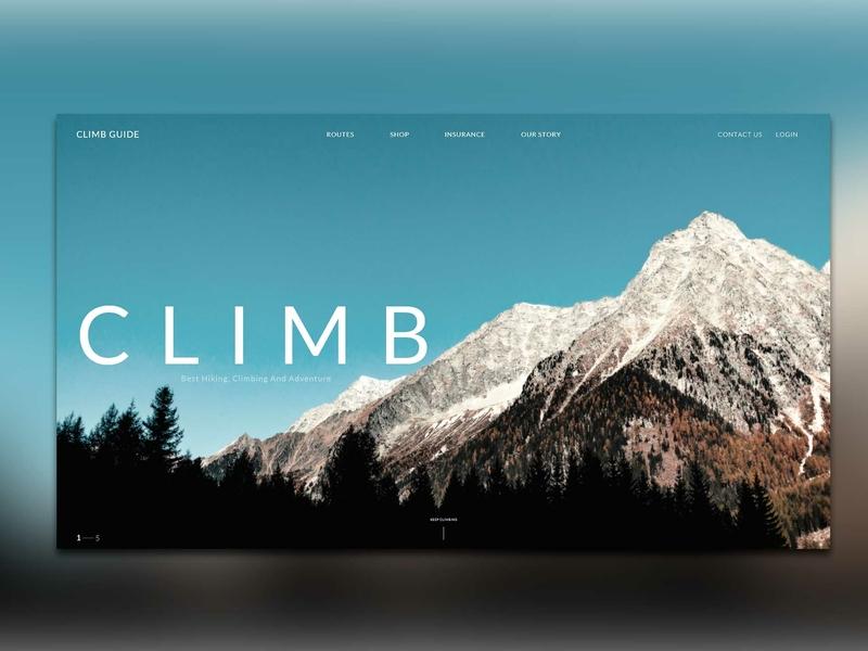 Climb web desing web ux nature design illustration