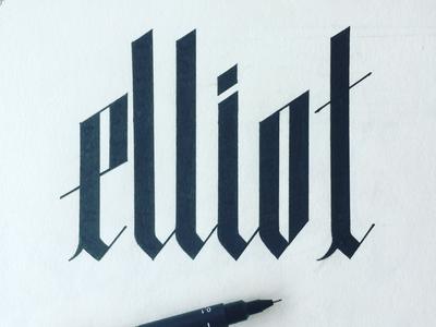 elliot custom font elliot lettering handmade typography hand lettering