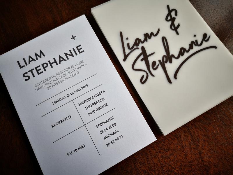 Invitation Design minimalistic beautiful diy handmade birthday invitation design