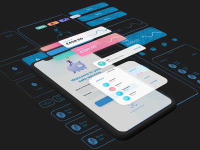 free financial ui kit for adobe xd xd made with adobexd app banking bank app fincial freeuikit uikit ux ui