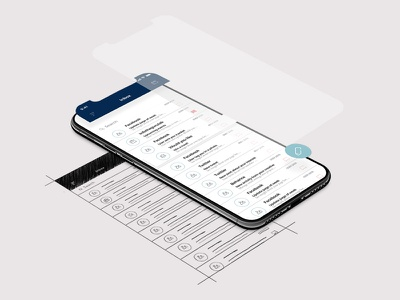 Mail app mock up mobile iphone x user message spam smart client mail ux ui