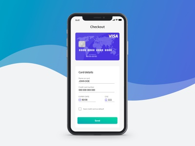 Credit Card Checkout dailyui 002 credit card checkout credit card form credit card payment checkout form app xd design user interface made with adobexd ux ui