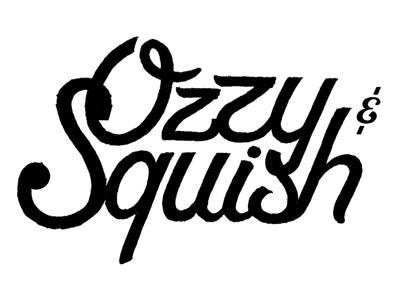 1st draft script black white italic ozzy squish branding logo identity ampersand and hand drawn