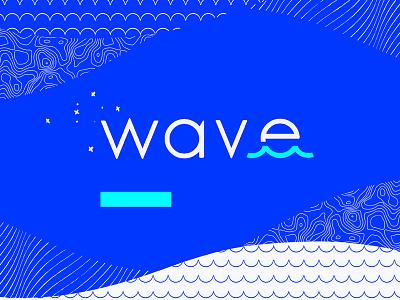 Wave identity blue line texture pattern water wave branding logo brand