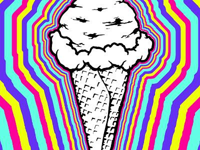 iiiiice creeeeaaam line art black sugar trip cone fun summer treat illustration milk ice cream
