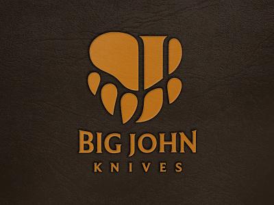 BJK hunting big handmade knives knife outdoor bear paw branding brand logo