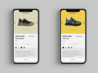 Off-White Sneakers App Ui