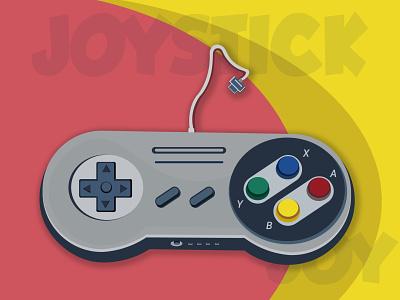 Joystick joystick 90s productdesign game design minimal web ui vector illustration design