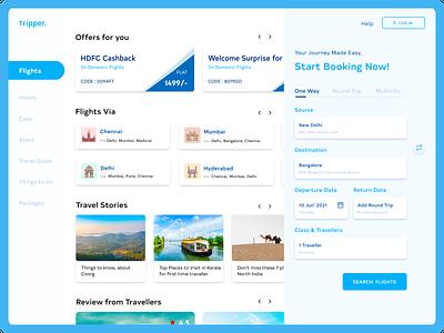 Travel Booking Concept trip travel flightbookings ticketbooking websitedesign travelapp web ux ui design