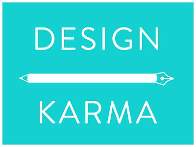 Dribbble Design Karma lettering logo typography branding vector design illustration