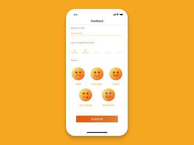 Dribbble Feedback Form Screen app vector ux ui design