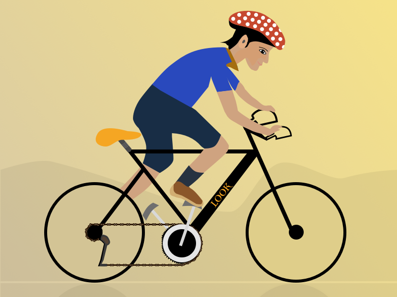 Cyclist sketching cartoon art motion sports cyclist branding vector design illustration