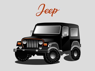 My Jeep black shadow rider journey travel automobile vehicle branding vector illustration design