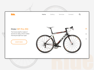 Ride- A Website Landing Page