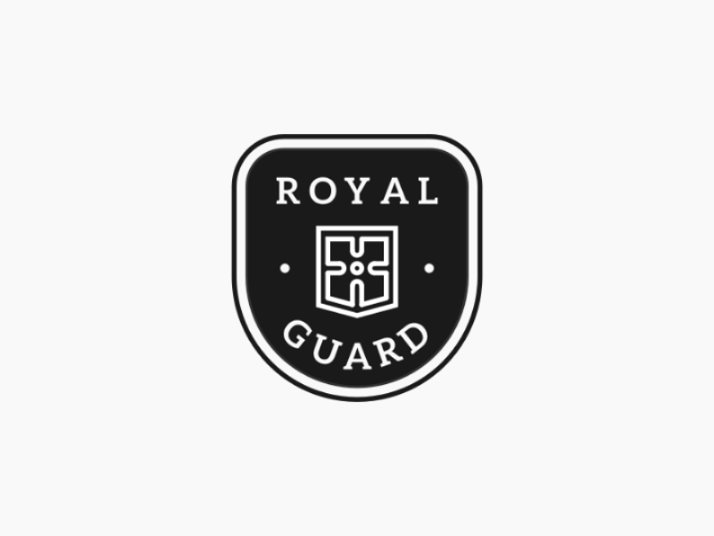 Royal Guard guard royal vintage logogram badge logo