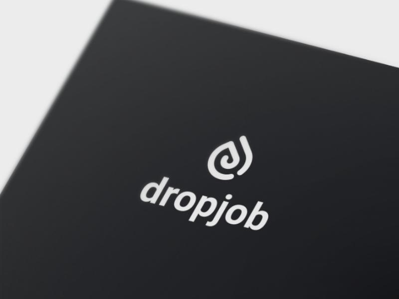 Dropjob minimalist minimal flat job identity brand branding logo