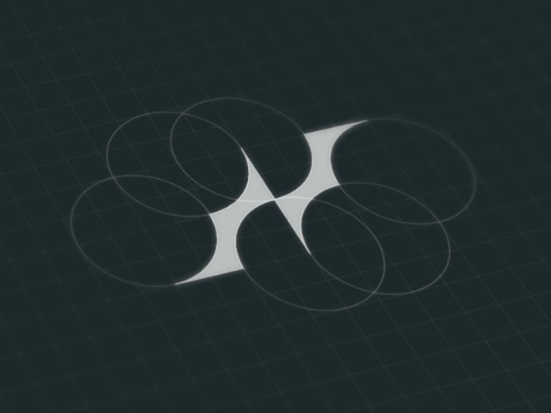 N identity flat minimal creative idea branding brand lettermark n black logo grid