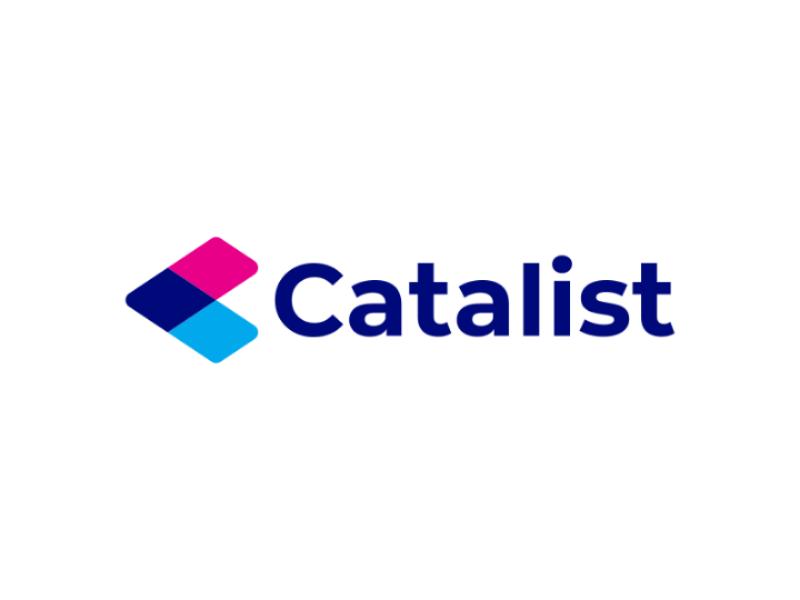Catalist minimal identity blockchain branding flat tech logo