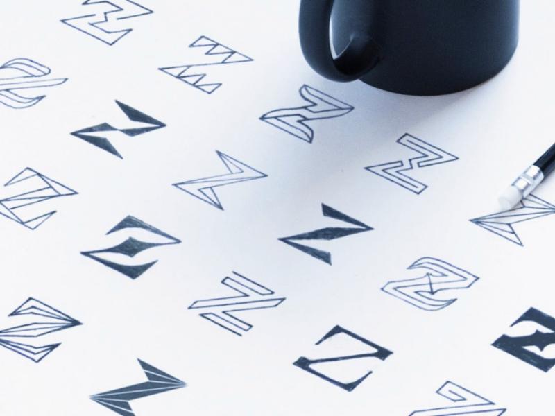 Z Mark Sketches crrative branding brand minimalist minimal sketches flatdesign flat logogram logo mark z