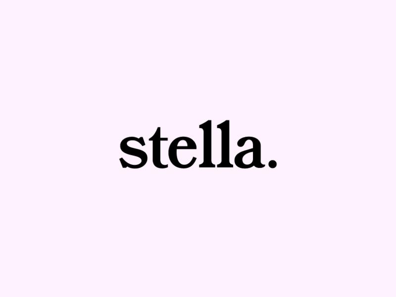 stella typography record album trio brazilian indie music band label signature typography type