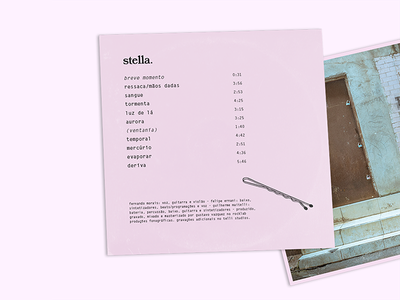 stella - 'deriva' album back cover package layout songs padlock stella brazil band indie record album