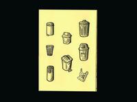 brazilian trash cans (zine page)