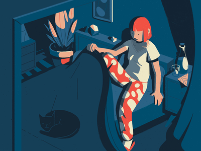 Sono sleep bedtime illustration
