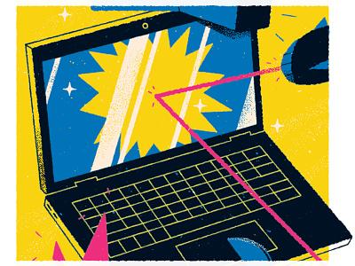 Darn tough laptop editorial illustration