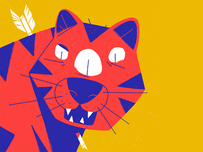 Gato Guerreiro doodle tiger illustration