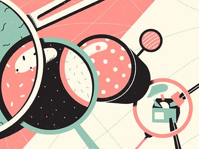 Lenses editorial illustration illustration