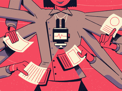 Scan editorial illustration illustration