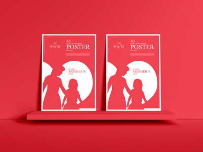 Front View A3 Papers Poster Mockup Free psd print template stationery mockups logo identity freebie free poster mockup free poster mockup mockup psd mockup free free mockup mock-up mockup frame download branding