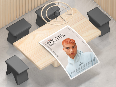 Interior Poster Mockup Free psd