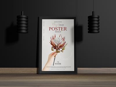 Interior Frame Poster Mockup Free poster mockup free