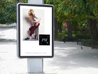 Outdoor Advertisement Vertical Poster Mockup