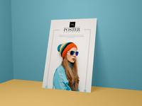 Modern Poster Mockup Psd | Freebie